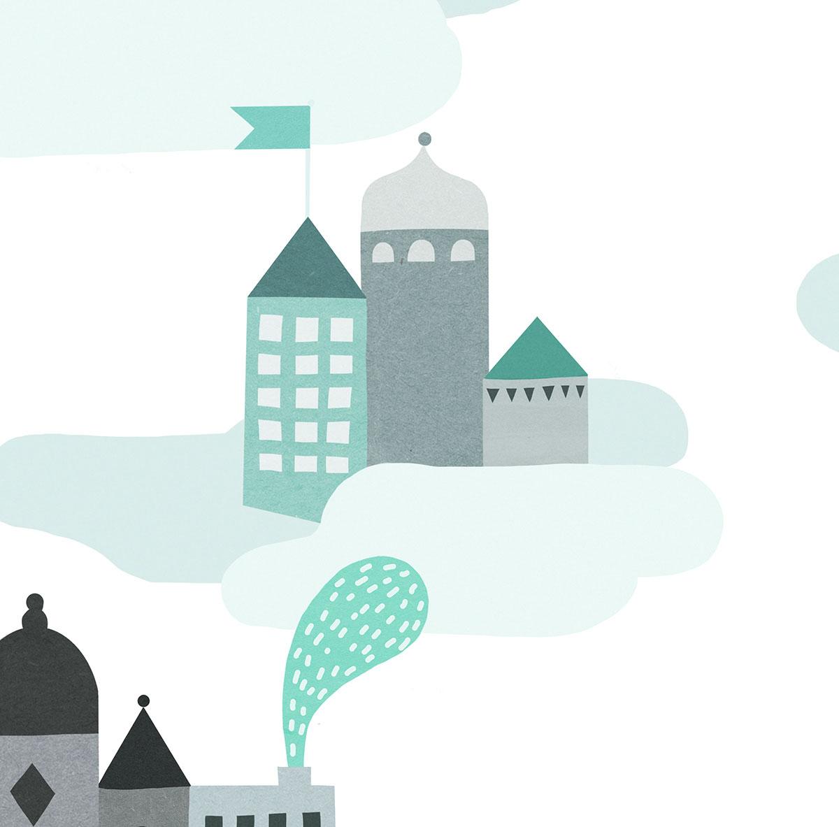 Michelle-Carlslund-Photowall-Sky-city-pattern